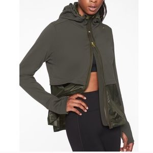 Athleta Windy Point Hoodie Olive Green